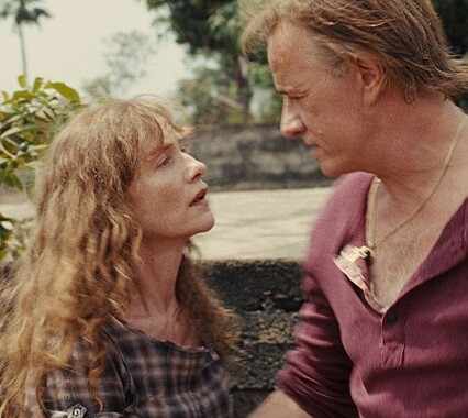 Isabelle Huppert y Christopher Lambert en un fotograma del filme.