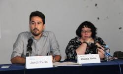Jordi Peris y Áurea Ortíz durante la presentación.