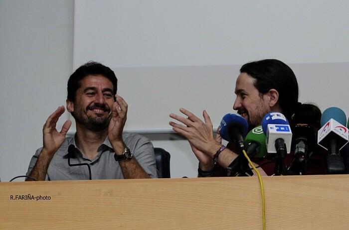 Jordi Peris y Pablo Iglesias.