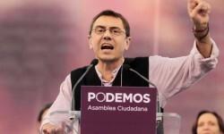 Juan Carlos Monedero en la Asamblea Ciudadana de Vistalegre.