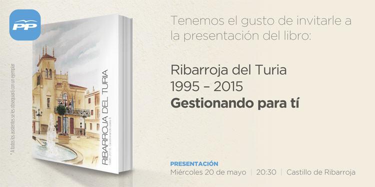 Reproducción de la invitación al acto de presentación del libro en el Castillo.