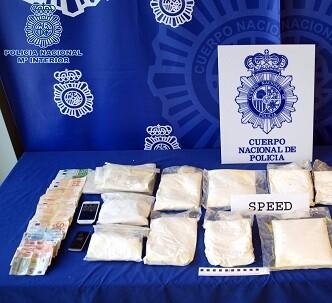 La operación policial contra el tráfico de speed acabó con 33 detenciones.