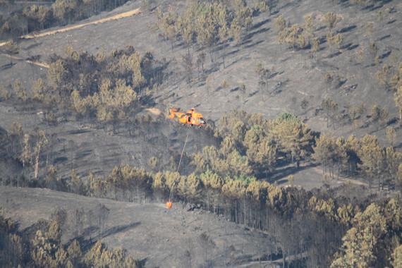 Áreas quemadas tras el incendio ocurrido en Oia (Pontevedra) en 2013 en el que ardieron más de 1.800 hectáreas. / Contando estrelas
