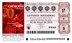 Lotería Nacional; sorteo de lotería nacional 30 de mayo de 2015