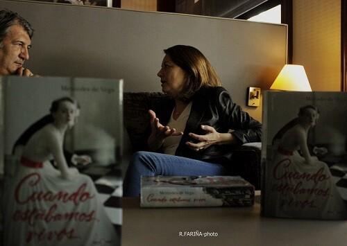 Mercedes de Vega durante un momento de la entrevista.