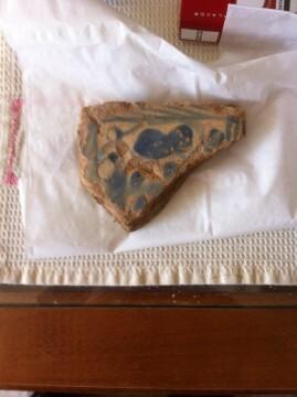 Muestra de cerámica medieval