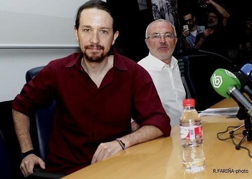Pablo Iglesias y Antonio Montiel.
