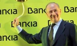 Rodrigo Rato en el momento que Bankia entró en la bolsa.
