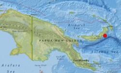 Situación geográfica de la isla de Papúa Nueva Guinea.