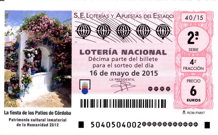 Sorteo de Lotería Nacional 16 de mayo de 2015