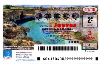 Sorteo del jueves de Lotería Nacional 21 de mayo de 2015