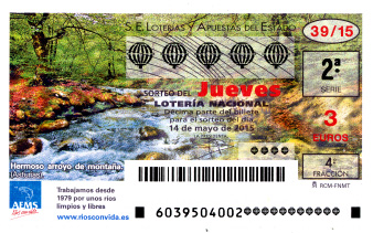Sorteo del jueves de lotería nacional 7 de mayo de 2015