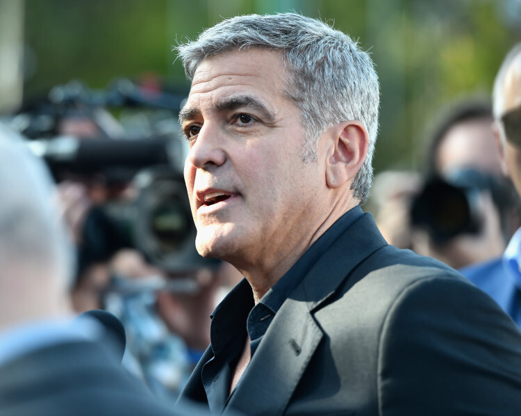ANAHEIM, CA - MAY 09:  Actor George Clooney attends the world premiere of Disney' class=