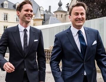 Xavier Bettel, primer ministro de Luxemburgo, contrajo matrimonio con el belga Gauthier Destenay