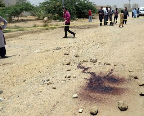 Zona donde se produjo el atentado. (Foto-AFP)