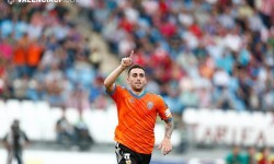 Paco Alcácer volvió a ejercer de killer valencianista y con su gol dio la Champions al Valencia CF. Foto: VCF