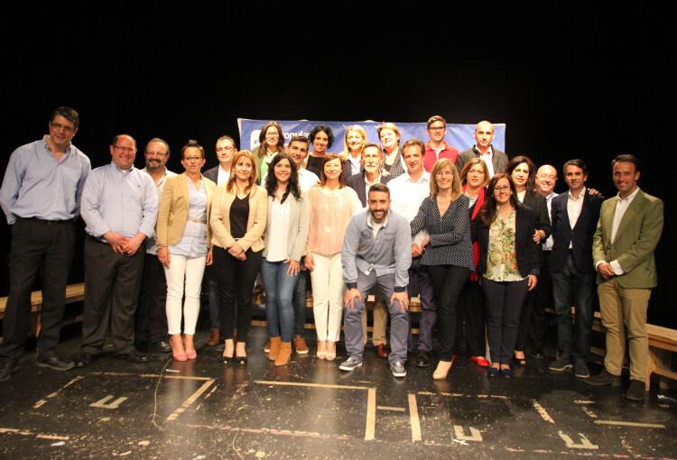 Candidatos del Partido Popular a las municipales en Paterna, con Elena Martínez a la cabeza.