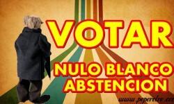 Diferencia entre voto en Blanco, voto Nulo y abstención
