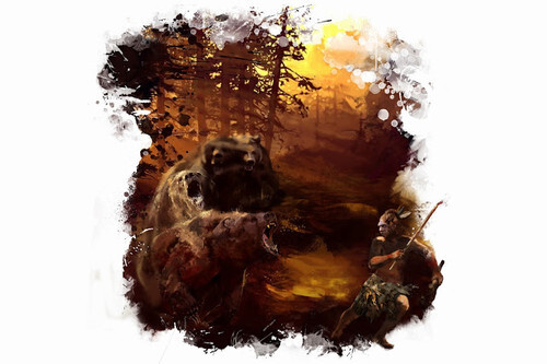 ilustracio-atac-carnivor-neandertal-p