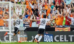 03.05.2015, La Liga BBVA Valencia CF v Eibar. Mestalla, Valencia.