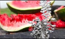 ¿Qué pasa si se vierte aluminio fundido en una sandía?