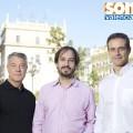 Rafa Medina, primero a la derecha, junto a Jaume Hurtado y Joan Ignaci Culla