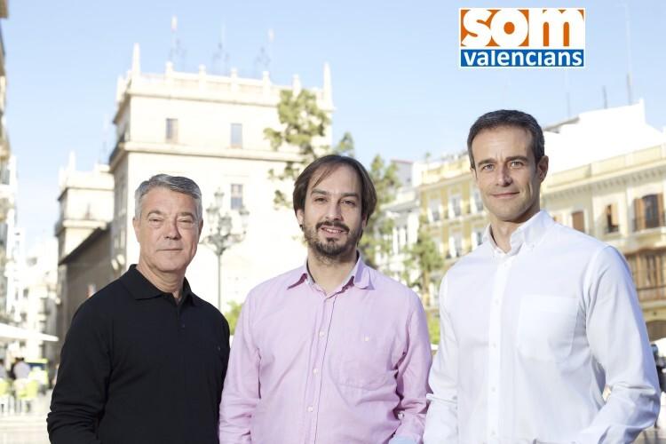 Joan Ignaci Culla, primero a la izquierda, junto a Jaume Hurtado y Rafa Medina.