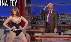 Tina Fey se quitó la ropa en un programa de televisión
