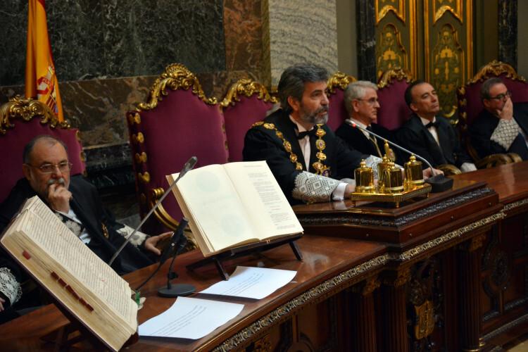 Carlos Lesmes preside un acto del Tribunal Supremio y el CGPJ. Foto de archivo