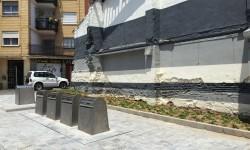 Contenedores subterráneos en la calle Benidorm. Foto de archivo