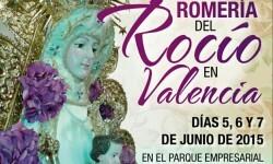 2015 CARTEL XXXIII ROMERIA DEL ROCIO EN VALENCIA-MITAD