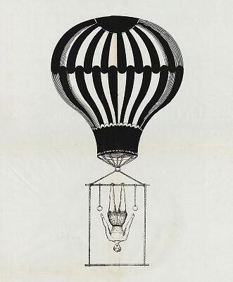 Aeronauta Mr Grellon. 1850.