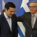 Alexis Tsipras y Jean-Claude Juncker en la sede de la EU.
