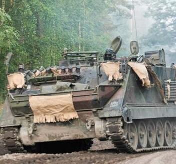 Artillería pesada desplegándose cerca de Ucrania.
