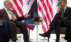 Barack Obama y Al Abadi en una reunión a proposito de los yihadistas