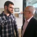 Berto Jaramillo y Antonio Montiel en la Feria del Libro