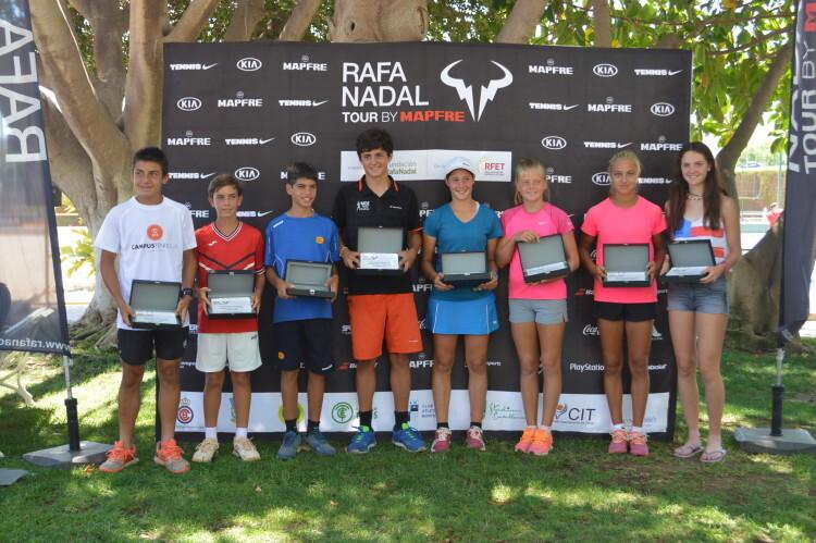 Campeones y finalistas Rafa Nadal Tour by MAPFRE - Alicante