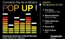 Cartel de celebración del Día Internacional de la Música.