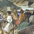 Detalle de una de los trabajos expuestos en 'Sorolla íntimo, Bocetos de Visión de España'.