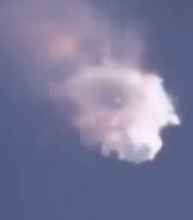 El cohete llevaba suministros para la Estación Espacial Internacional.