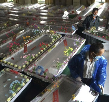 Fallecidos por la tragedia del barco hundido (EFE/Yuan Zheng)