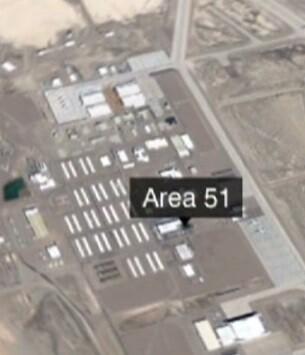 Foto aérea que indica la ubicación del Área 51.