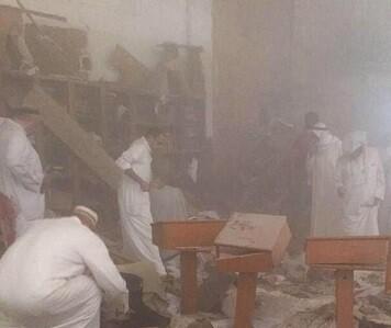 Fotografía del atentado producido en la mezquita.