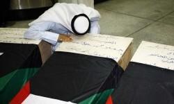 Funeral de las víctimas del atentado.