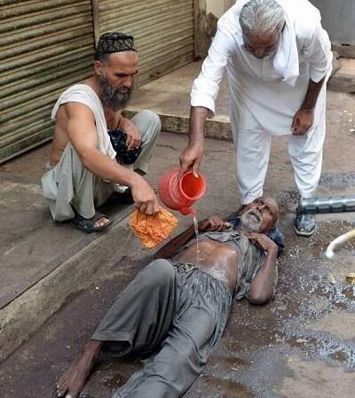 Karachi es una de las ciudades más afectadas por la ola de calor. (Foto-AFP).