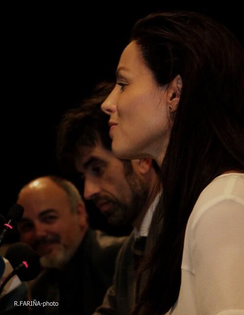 La actriz Ana Álvarez, junto a José Luis Moreno y Rafael Maluenda.