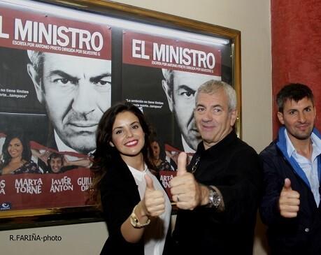 La actriz Marta Torné, Carlos Sobera y Javier Antón presentaron la obra en Valencia.