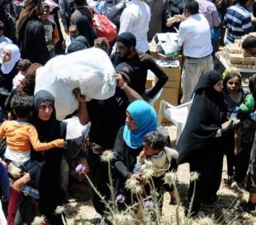 La mayoria de los 6.837 refugiados son mujeres y niños