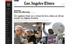 Los medios de Estados Unidos celebraron la aprobación del matrimonio gay en todo el país (2)