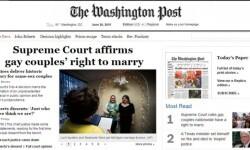 Los medios de Estados Unidos celebraron la aprobación del matrimonio gay en todo el país (4)